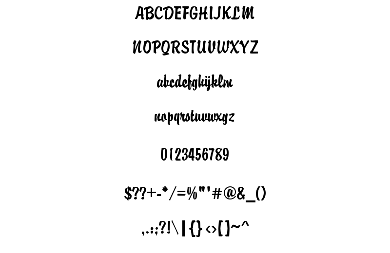 Brandyscript Regular Font Sample