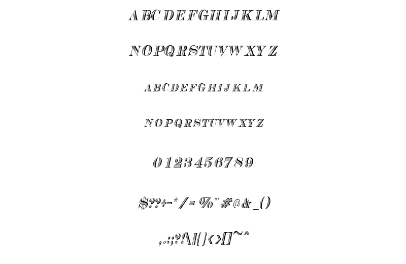 Cash Condensed Italic Font Sample