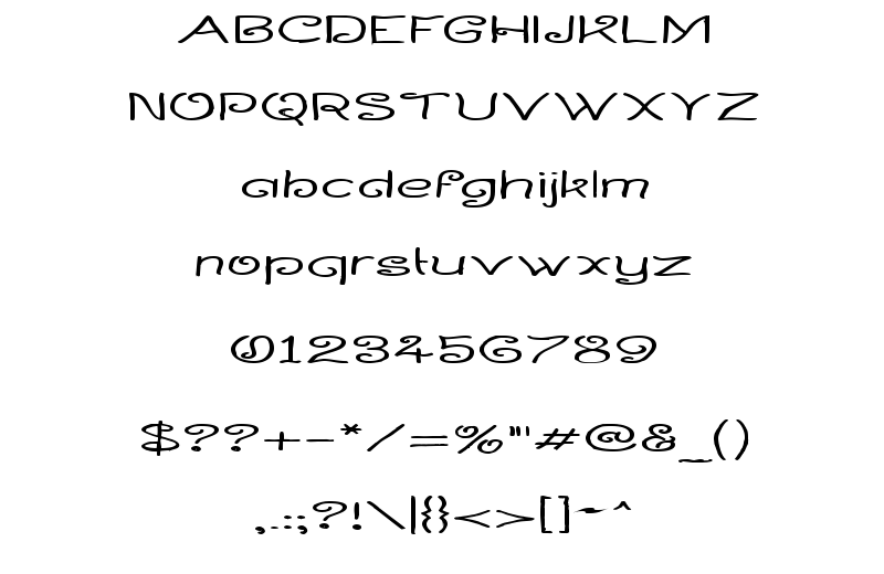 Curlmudgeon Wideside Font Sample