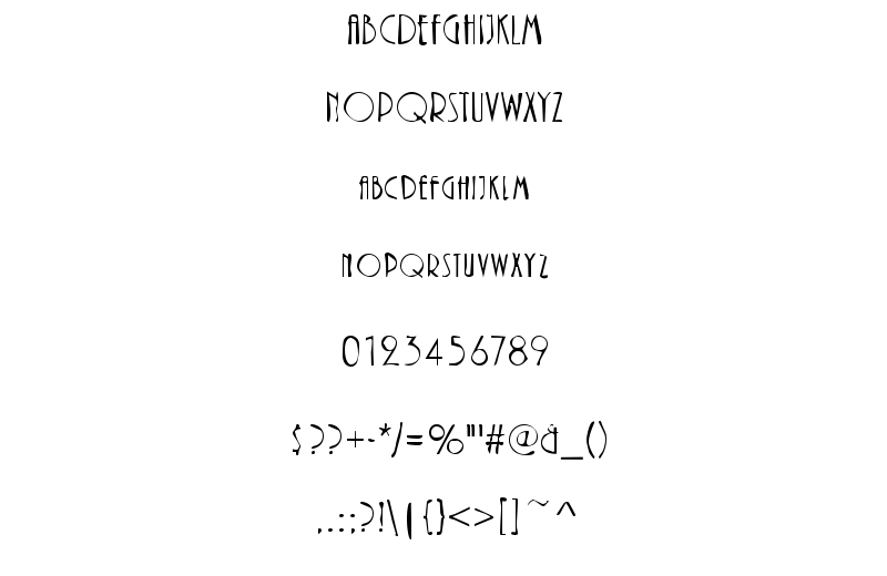 DTCDirty M40 Font Sample