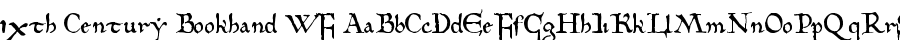 10th Century Bookhand WF font