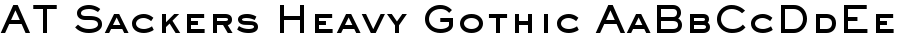 AT Sackers Heavy Gothic font
