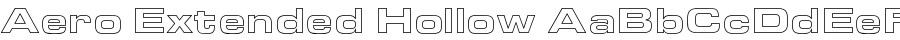 Aero Extended Hollow font