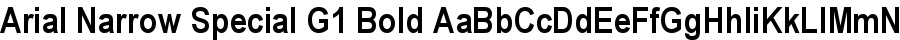 Arial Narrow Special G1 Bold font
