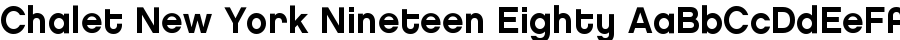 Chalet New York Nineteen Eighty font