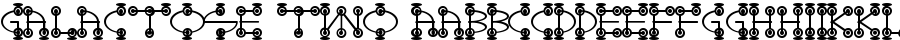 Galactose TWO font