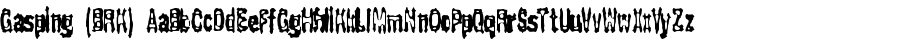 Gasping (BRK) font