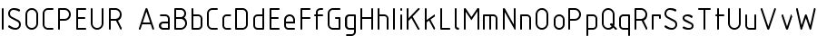 ISOCPEUR font