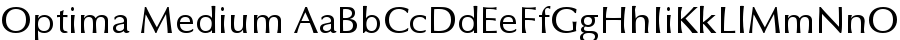 Optima Medium font