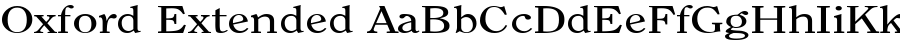 Oxford Extended font