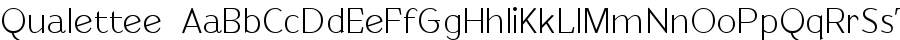 Qualettee font