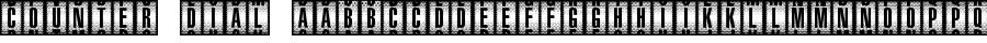 Counter Dial font