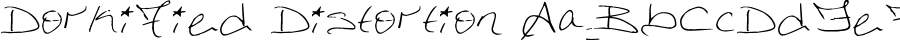 DorkifiedDistortion font