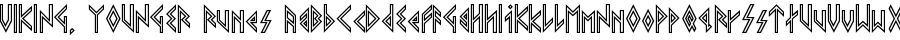 VIKING, YOUNGER Runes font