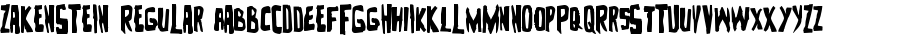 Zakenstein Regular font