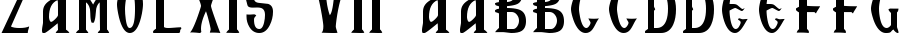 Zamolxis VII font