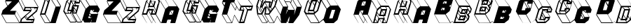 ZigZagTwo font